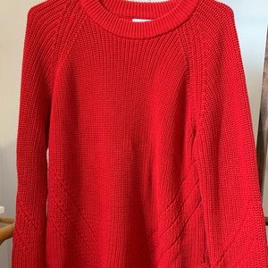 Thick bright red sweater